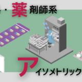 【フリー素材】医療系・薬剤師系アイソメトリックイラスト